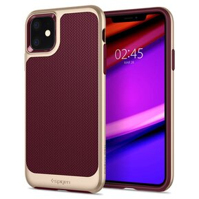 Удароустойчив, хибриден кейс Spigen Neo Hybrid за IPHONE 11 - burgundy ( 076CS27196 - 10029 )