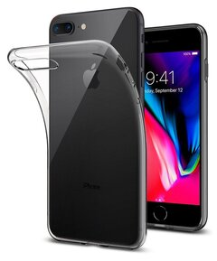 "Удароустойчив прозрачен кейс Spigen Liquid Crystal 2 за IPHONE 7 / 8 PLUS - прозрачен ( 055CS22233 - ""10020"" )"