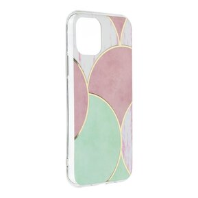 Стилен дамски кейс за IPHONE 11 от Forcell Marble Cosmo - design 5 ( 5903396085611 - 1006 )