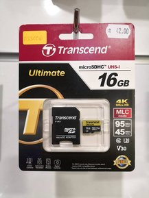Transcend micro SD 16 GB