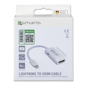 4SMARTS Адаптор HDMI (iPhone, iPad) - Converter lightning to HDMI 10cm ( 4S468664 )