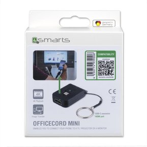 4SMARTS Адаптор USB-C to HDMI за Устройства с USB-C - 4SMARTS Converter USB-C to HDMI Officecord Easy Project Mini ( 4S468644 )