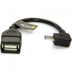 Адаптор USB OTG to microUSB Black ( PURE/OTG/microUSB )