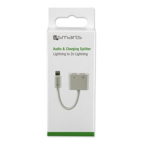 Аудио Адаптер (iPhone, iPad) - 4SMARTS Soundsplit Lightning to Lightnig & Lightning ( 4S468674 )
