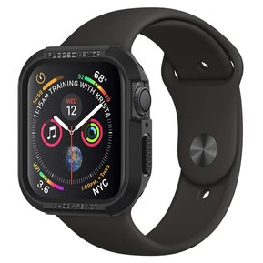 Противоударен силиконов кейс - SPIGEN Rugged Armor за APPLE WATCH 4/5 (40MM) BLACK ( 061CS24480 )