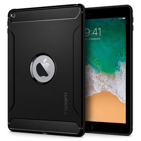 Противоударен силиконов кейс - SPIGEN Rugged Armor за IPAD 9.7 2017/2018 BLACK ( 053CS24120 )