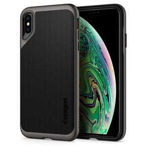 Удароустойчив, хибриден кейс Spigen Neo Hybrid за IPHONE X/XS - Gunmetal ( 063CS24918 - 10027 )