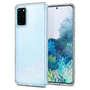 "Удароустойчив прозрачен кейс Spigen Liquid Crystal за Samsung Galaxy S20+ PLUS - с блестящи елементи ( ACS00752 - ""10022"" )"