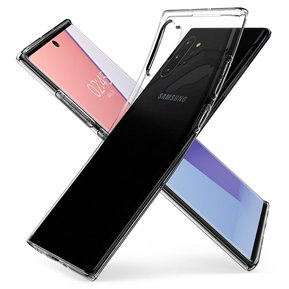"Удароустойчив прозрачен кейс Spigen Liquid Crystal за Samsung Galaxy NOTE 10+ PLUS - прозрачен ( 627CS27327 - ""10020"" )"