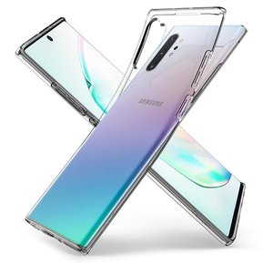 "Удароустойчив прозрачен кейс Spigen Liquid Crystal за Samsung Galaxy NOTE 10 LITE - прозрачен ( ACS00683 - ""10020"" )"