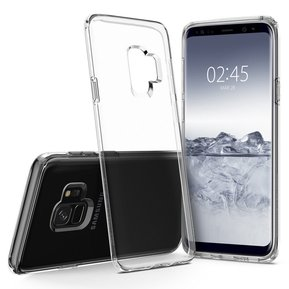 "Удароустойчив прозрачен кейс Spigen Liquid Crystal за Samsung Galaxy S9 - прозрачен ( 592CS22826 - ""10020"" )"